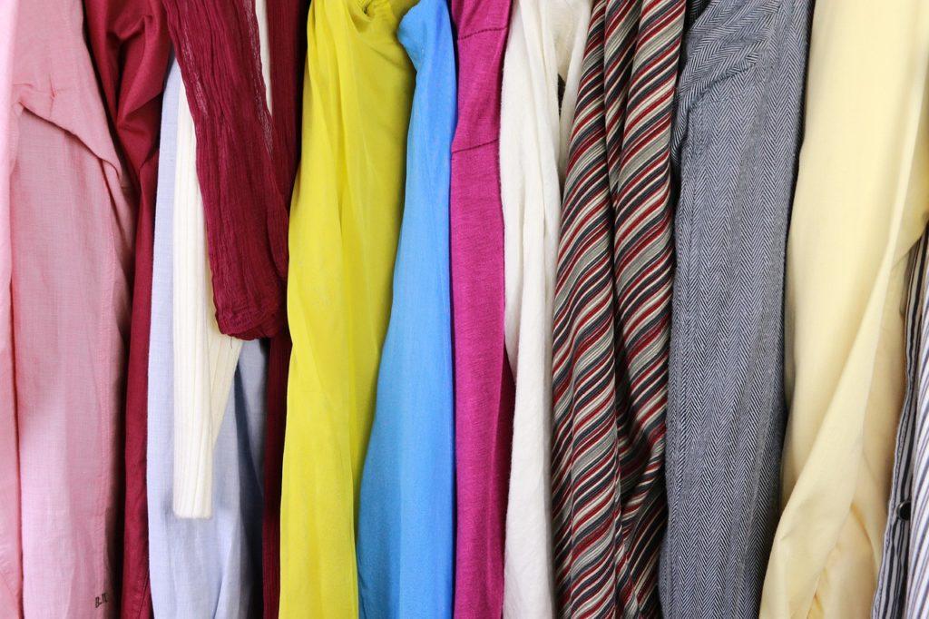 クローゼットの洋服
